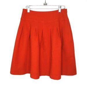 Banana Republic orange pleated wool blend skirt, 4